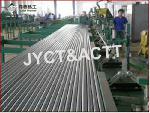 Fin Tube Manufacturing Machine For Wrapped / Type L / LL Embedded Finned Tubes