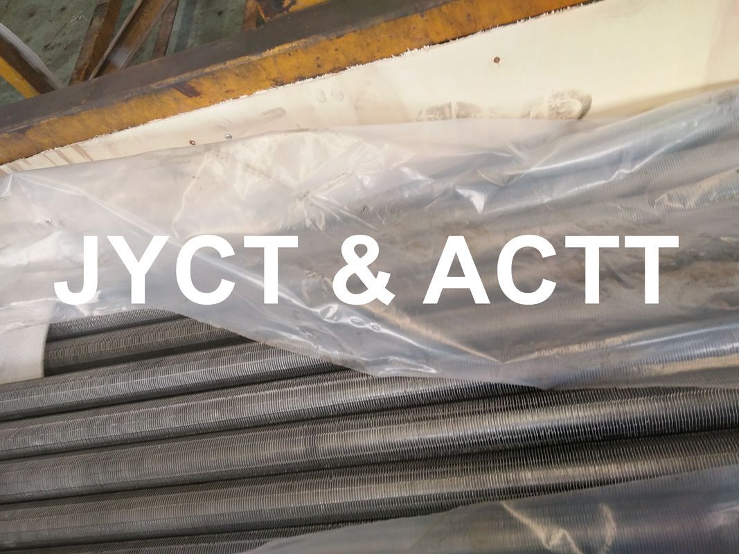 Aluminum Heat Exchanger Fin Tube Extruded / Serrated Type Against Corrosion
