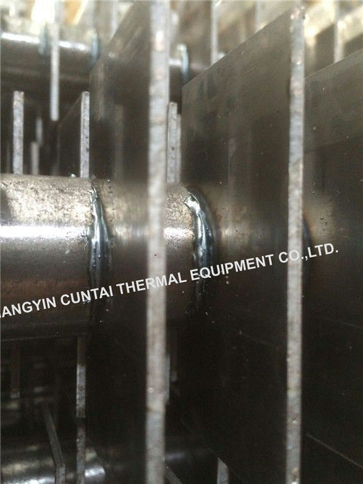 Steel H Boiler Square Fin Tube With DIN17175 ST35.8 SMLS Tube Material