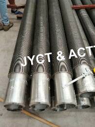 Continuous Helical HF Welded Finned Tubes , SA312 TP316 Heat Exchanger Fin Tube