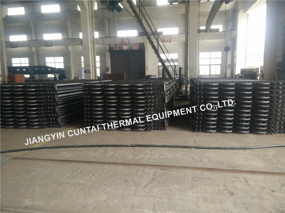 U Bent HH Fin Tube For Waste Heat Recovery , Steel Heat Transfer Finned Tube SA192 SMLS