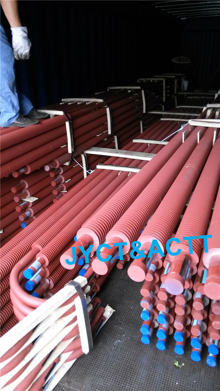 Spiral U Bend Low Finned Tubes High Frequency Welding For Heat Exchanger