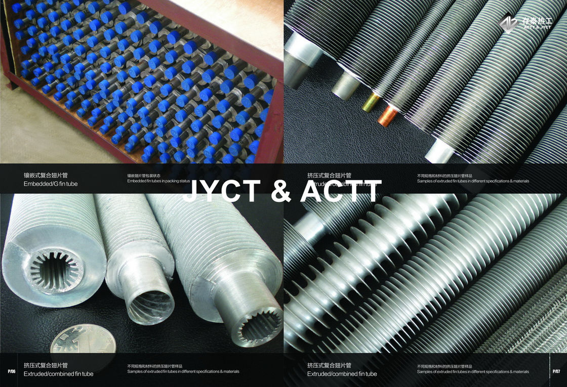 ExtrudedAluminium Finned Tubes , ASME SA-179 Heat Exchanger Solid Fin Tube